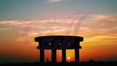 Photo of غروب الشمس يتخلل فى إحدي برجولات سطح سكني – مصر – أكتوبر ٢٠١٨